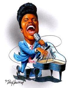 famus pop music  Prince caricatures | Little Richard Caricature