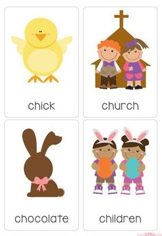 """Our """"Easter Flash Cards"""" are a great early literacy learning tool for your children or classroom this Easter. All images are of high quality and use the Australian Foundation Font.  There are 28 printable flash cards in this set, the words included are:  April, basket, candy, carrot, chick, church, chocolate, children, cupcake, decorate, duckling, Easter, Easter bunny, Easter eggs, egg, family, flowers, give, grass, Happy Easter, hat, hide, hot cross buns, hunt, jellybeans, lamb, new life…"""
