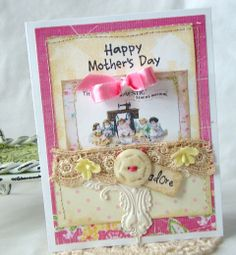 paper craft card By iralamija: Mothers Day Cards! The Ideal adhesive for this card is tombow MONO Aqua Liquid Glue  https://tombowusa.com/craft/detail/52180