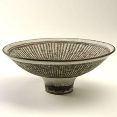 'Knitted' bowl c1268 by Lucie Rie