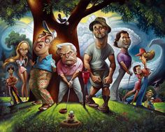 Expert Golf Tips For Beginners Of The Game. Golf is enjoyed by many worldwide, and it is not a sport that is limited to one particular age group. Not many things can beat being out on a golf course o Arte Steampunk, Golf Art, Caricature Artist, Golf Tips For Beginners, Golf Towels, Golf Quotes, Golf Humor, Funny Golf, Dolphins