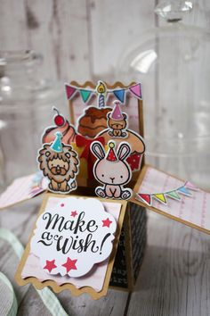 Card in a box using Cupcake Carnival from Mama Elephant.
