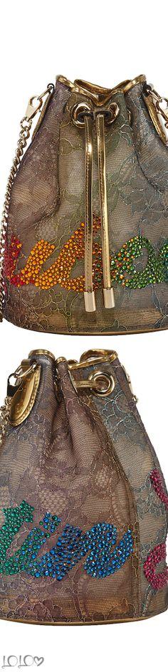 fc411d0475ce2 Christian Louboutin Marie Jane Lace Bucket Bag