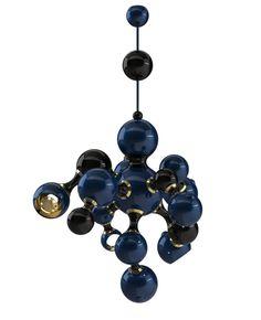 Contemporary Descendant of Retro Sphere Lighting: Atomic Suspension Lamp @Delightfull Unique Lamps