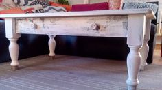 #Tisch im #Shabby-Chic-Look #Möbel #Upcycling