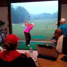 October 17, 2013: ''Photo from today's testing session with Stacy Lewis at our R&D Center at Country Club of the South,'' said Mizuno Golf (@Golf_Mizuno).