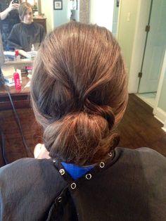 Wedding hair- chignon updo