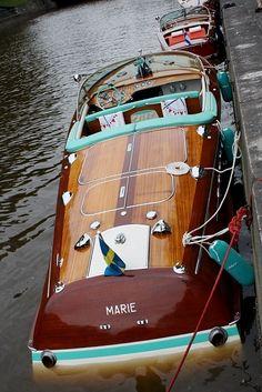 1963 Riva Super Tritone Sportboat.