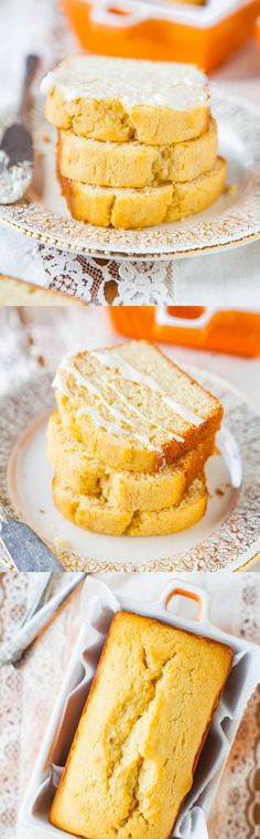 Mini Cream Cheese Pound Cakes with Vanilla Cream Cheese Glaze - Finally, pound cake that's NOT dry thanks to the cream cheese in the batter! And the recipe makes just 2 mini pound cakes (since most of us don't need pounds of cake)