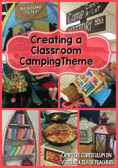 Your Classroom Theme-erific! If you're looking for camping classroom theme ideas, look no further! This post is filled with ideas you will LOVE from Campfire Curriculum. Forest Classroom, New Classroom, Kindergarten Classroom, Camping Theme For Classroom, Preschool Camping Theme, Classroom Libraries, Disney Classroom, Reading Tent, Reading Themes