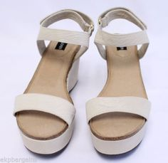 Adam-Tucker-Women-Sand-Baci-1-Leather-Wedge-Platform-Sandals-Shoes-Size-8M-W403