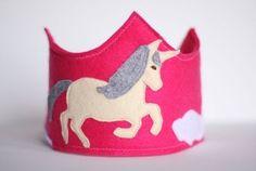 Unicorn felt crown