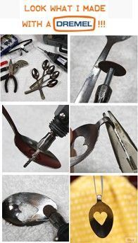 Look What I Made with a Dremel! – How to Make a Spoon Pendant