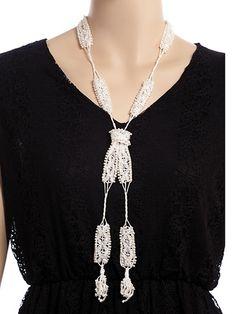 Crochet necklace and bracelet set pattern