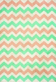 Green And Brown Chevron ArtCoral ChevronMint