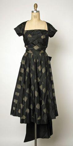 Dress, Gilbert Adrian (American, Naugatuck, Connecticut 1903–1959 Hollywood, California): ca. 1947, American, silk.