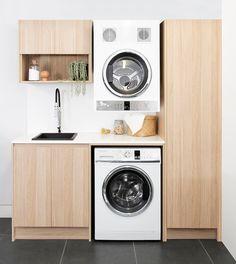 Small Laundry Sink, Laundry Bathroom Combo, Laundry Cabinets, Small Sink, Laundry Room Bathroom, Small Laundry Rooms, Laundry Storage, Small Rooms, Small Bathroom
