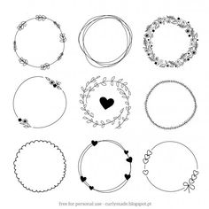 While it's still cold we will have to settle for these floral hand drawn wreaths in vectors and png