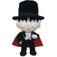 """Free Shipping. Buy Sailor Moon Tuxedo Mask Series 9"""" Plush, Officially Licensed by Great Eastern By Great Eastern at Walmart.com"""