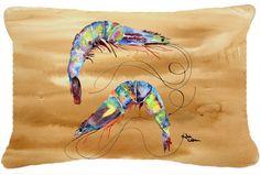 Shrimp Canvas Fabric Decorative Pillow