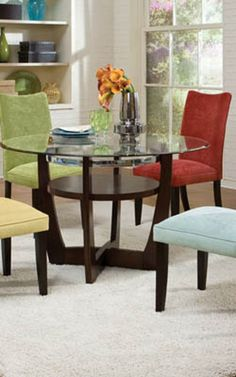 La Jolla Parsons Chairs 4-Pack (Red/Spa/Green/Camel)