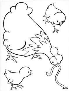 Coloring Book~Lots To Color-Orange - Bonnie Jones - Picasa Albums Web Farm Animal Coloring Pages, Coloring Book Pages, Coloring Sheets, Colorful Drawings, Easy Drawings, Galo, Coq, Bird Design, Drawing For Kids