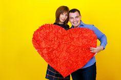 Couple holding heart by Elena Vagengeim on @creativemarket
