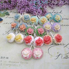 Vanhanaikaisia ruusukorviksia 16€ http://www.helmipaikka.fi/tuotteet.html?id=15/ #ruusucamee #ruusukorvis #kaunis #romanttinen #juhannusruusu