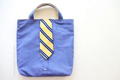 Shirt & Tie Tote Bag...Not just for boys. Church bag or library bag - via Make It and Love It