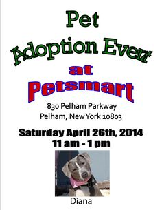 Pet Adoption Event April 26th @ Petsmart