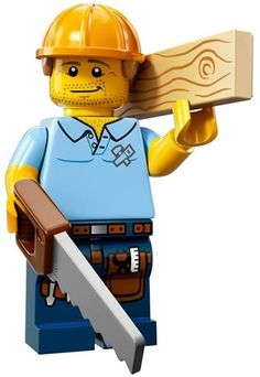 LEGO Minifigures Series 13 Carpenter Construction Toy: Get your hands on the exciting Series 13 minifigure and accessory! Lego City, Construction Lego, Construction Worker, Phineas, Lego People, Lego Man, Lego Lego, Lego Ninjago, Lego Minifigs