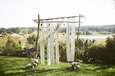 rustic ceremony arch