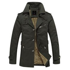Trench Coat Men Winter Jacket Men Solid Slim Quilted Jacket Men Trench Fashion Keep Warm Zipper Mens Winter Clothing SMS0018-6