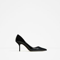 ZARA - WOMAN - CONTRAST MID-HEEL SHOES   love these!!!