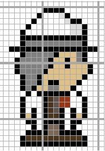 Dimitri Allen Professor Layton perler bead pattern