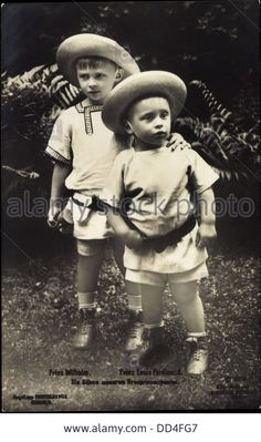 Prince Wilhelm and Prince Louis Ferdinand of Prussia