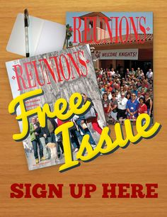 Help us write Reunions magazine! Reunion Decorations, School Reunion, My High School, Family Reunions, Free Stuff, Holidays And Events, Helping Others, Family History, Knights
