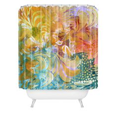 Madart Inc. Colorful Whimsy Background Shower Curtain | DENY Designs Home Accessories