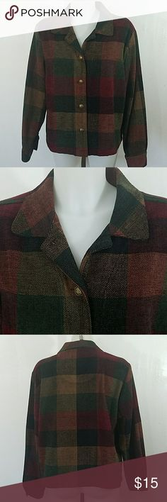 """🦄 Christopher and Banks Plaid Blazer Jacket Christopher and Banks Plaid Blazer Jacket. In great condition. Size large.  Bust 44"""" Length 24"""" 100% Acrylic  Listing may end at anytime. Christopher & Banks Jackets & Coats Blazers"""