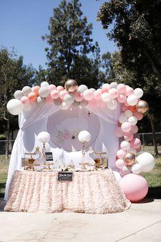 Sweet Swan 1st Birthday Party on Kara's Party Ideas | KarasPartyIdeas.com (26)