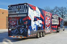 """Full Trailer Wrap for World of Outlaws STP Sprint Car Series We are a Series Sponsor & the """"Official Trailer! Dirt Track Racing, Nascar Racing, Racing Team, Road Racing, Sprint Cars, Race Cars, Race Car Parts, Outlaw Racing, Cars Series"""