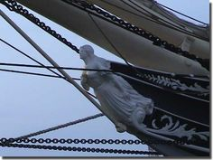 Figurehead from the Sailing ship Elissa, built in 1877, and found at the Texas Maritime Museum at Galveston.
