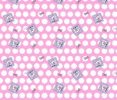 Westie Dot And Bows fabric by KiniArt™ on Spoonflower - custom fabric