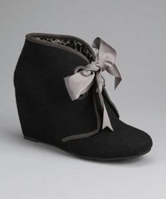 Look what I found on #zulily! Black Felt Hooey Bootie by Sugar Shoes #zulilyfinds