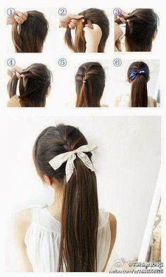 Ponytail braid.. With bow