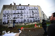 First public art installation of JRs INSIDE OUT project in Portland