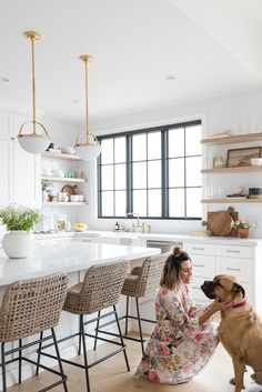 Christine Andrew from Hello Fashion shares her dream kitchen reveal, with full product and construction details, and links to recreate the look. Home Decor Kitchen, New Kitchen, Home Kitchens, Family Kitchen, Design Furniture, Plywood Furniture, Chair Design, Modern Furniture, Kitchen Remodel