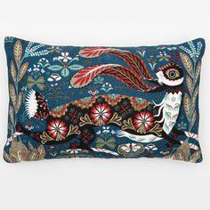 Running Hare cushion, 55 x 35 cm, £82 - design by illustrator Klaus Haapaniemi - via klaush.com