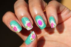 Polished Polyglot: NOTD: Vintage manicure using 3D decoration