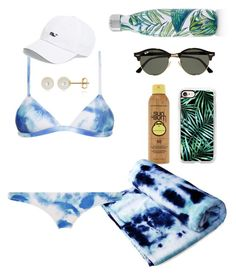 """""""palms & tie dye"""" by emmi9508 ❤ liked on Polyvore featuring Forever 21, Casetify, Ray-Ban, S'well, Belk & Co. and Vineyard Vines"""